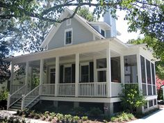 Sugarberry cottage with extended porch