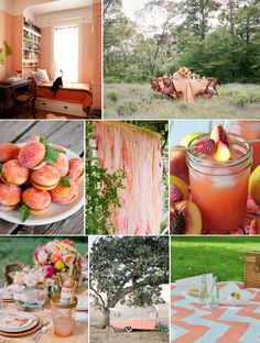 Mood Board Monday: Peaches and Cream