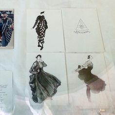 John Galliano sketches /CSM museum (?)/