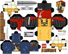 Jack Sparrow LEGO paper craft toy