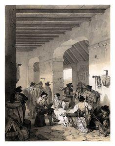 005-Ladrones en una venta-España artística y monumental..Tomo I- 1842-1850-Genaro Perez de Villa-Amil