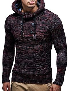LEIF NELSON Men's Knitted Pullover 20227 is part of Men sweater  H and to consolation Timeless vogue Good healthy - Outfits Casual, Mode Outfits, Fashion Outfits, Fashion Men, Mens Fashion Sweaters, Men Sweater, Leif Nelson, Moda Formal, La Mode Masculine