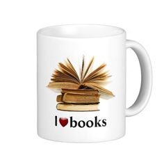 I HEART (LOVE) BOOKS MUG