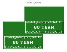 Free printable football treat toppers! #freeprintables #football