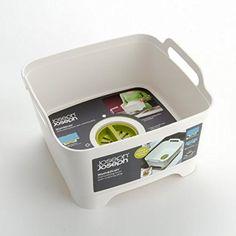 Amazon.com: Joseph Joseph 85056 Wash and Drain Dish Tub Plastic Dishpan with Draining Plug Carry Handles for Dishwashing Cleaning 12.4-inch x 12.2-inch x 7.5-inch, Grey: Home & Kitchen