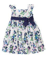 For toddler girl...match with navy or green dress for Mom.