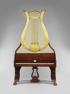 Lyraflugel,  this type of upright piano was made almost exclusively in Berlin between 1820 and 1850