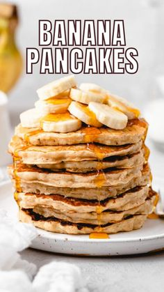 Pancakes Made With Banana, Light And Fluffy Pancakes, Banana Pancakes, Pancakes And Waffles, Banana Bread, Buttermilk Pancakes, Savory Breakfast, Breakfast Items, Sweet Breakfast