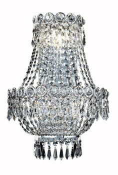 View the Elegant Lighting 1900W12SC Century 3-Light Crystal Wall Sconce, Finished in Chrome with Clear Crystals at LightingDirect.com.