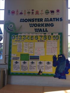 Monster maths working wall - place value Year 3 Classroom Ideas, Maths Classroom Displays, Teaching Displays, Maths Display, Class Displays, Primary Classroom, Classroom Inspiration, Classroom Themes, Primary School Displays