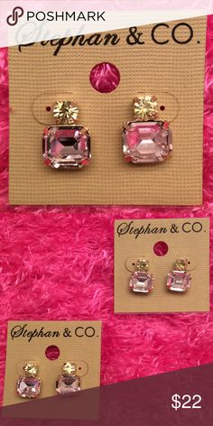 Stephan & Co. Earrings Stephan & Co. These gems so cute with basic T shirt and jeans. Cute and Sassy.. Stephan & Co. Jewelry Earrings