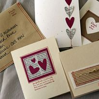 Ideas for sewing cards. I like the envelopes and can see myself doing this with the invitations.