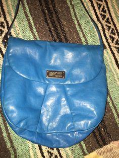 Marc by Marc Jacobs Classic Q Lil Ukita Bright Blue Leather Bag Crossbody EUC #MarcJacobs #MessengerCrossBody