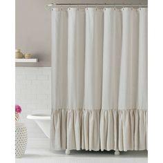 Gabriella Natural Linen Shower Curtain, $25 At Home