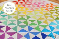 Easy Pinwheels : A tutorial-- the new quilting project at the miller household!