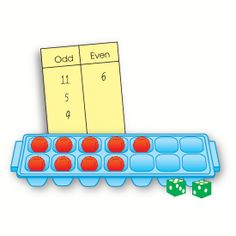Visualising odd and even numbers using an egg carton or ice tray