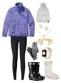"""""""colorado"""" by gracerickman on Polyvore featuring Patagonia, Hunter, The North Face and Kendra Scott"""