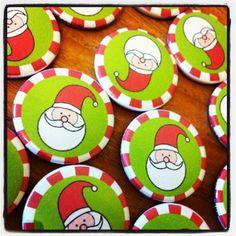 Santa Christmas Pin Button Badges | Flickr - Photo Sharing!
