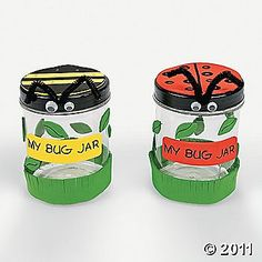Celebrate spring with this My Bug Jar Craft Kit! Make a plastic bug jar to hold insects and kids will have have endless fun in their backyards collecting . Kids Crafts, Baby Food Jar Crafts, Summer Crafts, Preschool Crafts, Summer Fun, Toddler Crafts, Easy Crafts, March Crafts, Daycare Crafts