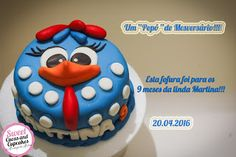 Sweet Cucas and Cupcakes by Rosângela Rolim: Bolo mesversário Galinha Pintadinha