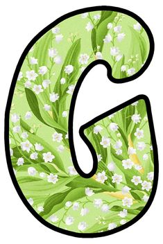 Alphabet, Lily Of The Valley, Bubbles, Monogram, Board, Garden, Flowers, Day Planners, Floral Letters