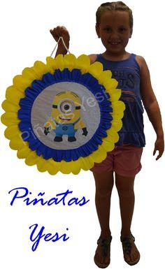 Piñata Artesanal hecha a mano de los Minions