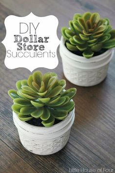 Faux Dollar Store succulents and quilted jelly jars come together to create a perfect and inexpensive home accent.