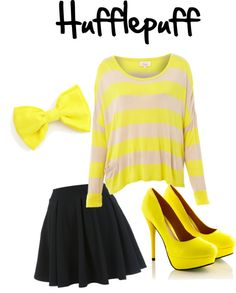 """hufflepuff"" by buford-malfoy on Polyvore"