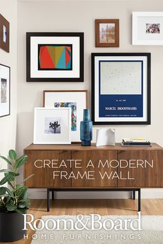 Learn how to create a modern frame wall with our helpful guide and video.