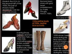Some shoes of the 1920s