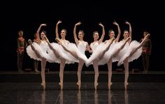 """This is as close to perfect as can get. Far left slightly off, but impressive still. Paris Opéra Ballet School dancers in """"La Nuit de Walpurgis"""" for the Tricentenary Gala. Ballet Art, Ballet Dancers, Dance Photos, Dance Pictures, Ballet Pictures, Paris Opera Ballet, Ballet Performances, Ballet School, Ballet Photography"""