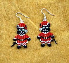 Santa Cat earrings