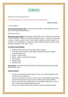 ČERVEN Preschool, How To Plan, Education, Blog, Kids, Hampers, Biology, Children, Preschools