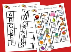 Homeschool Letter Matching Game Printables