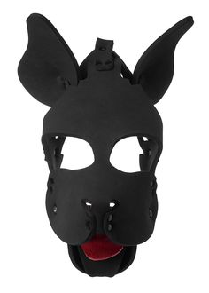 Leather puppy Hood,mask Red Quality Neopreme detacable snout Size M