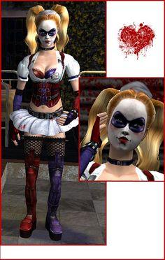 Mod The Sims - Harley Quinn *Arkham Asylum* - OUTFIT