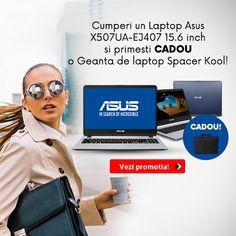 Cumpara cu -20% REDUCERE un Laptop Asus X507UA-EJ407 15.6 inch si primesti CADOU o Geanta laptop Spacer Kool! 6 Inches, Multimedia, Laptops, Software, Notebook, Stars, Grey, Color, Gray