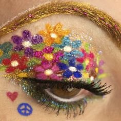 GLITTAH, FLOWERS AND GOLD BROWS! OH MY.