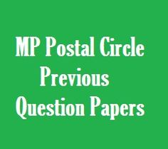 MP Postal Circle Exam Question Papers in Hindi