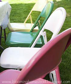 Blooming Homestead: Painted Metal Chairs