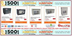 P500.00 OFF when you buy P3,500.00 worth of Safety Vault @ Lazada Shop Online - SUNNY WEDNESDAY PROMO! Free Delivery Nationwide!  Use Voucher Code:SUNNY500  For Lazada App-Minimum Purchase of P3,000.00 - Use Voucher Code:SUNNYAPP  http://www.lazada.com.ph/catalog/?q=safety+vault+cost+u+less