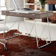 Because this writing desk is both functional and minimalist chic