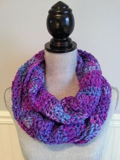 Your place to buy and sell all things handmade Crochet Snood, Crochet Scarves, Crochet Christmas Gifts, Crochet Gifts, Loop Scarf, Circle Scarf, Handmade Gifts For Her, Purple Necklace, Handmade Scarves
