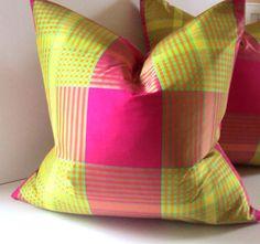 plaid toss pillow