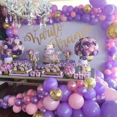 Super Ideas For Baby First Birthday Backdrop Garden Parties - Rapunzel Birthday Party, Sofia The First Birthday Party, Butterfly Birthday Party, Tangled Party, Butterfly Baby Shower, Baby Shower Purple, Baby Girl Shower Themes, Girl Baby Shower Decorations, Birthday Party Decorations