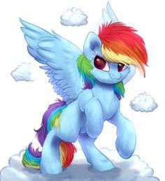 Little Rainbow Dash! by PeachMayFlower.deviantart.com on @DeviantArt