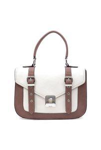 Blue Vanilla - Audrey  •Faux leather  •Zip top closure  •Silver-tone hardware  •Detachable shoulder strap  •L 12 * H 8.5 * W 4 (5.5 D)  #handbag #satchel