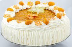 Hedelmä-valkosuklaakakku Birthday Cake, Desserts, Food, Tailgate Desserts, Deserts, Birthday Cakes, Essen, Postres, Meals