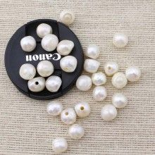 ETS-L0036 2.5mm Large hole freshwater pearl / 12-13 mm big baroque loose pearl bead / loose freshwater pearl / baroque pearl / 40 pcs