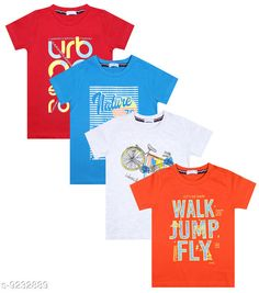 Tshirts & Polos Luke and Lilly Boys Cotton Half Sleeve Tshirt - Pack Of 4  Fabric: Cotton Sleeve Length: Short Sleeves Pattern: Printed Multipack: Pack of 4 Sizes:  4-5 Years (Chest Size: 12 in Length Size: 17 in Waist Size: 13 in)  5-6 Years (Chest Size: 13 in Length Size: 18 in Waist Size: 13 in)  3-4 Years (Chest Size: 12 in Length Size: 16 in Waist Size: 12 in)  6-7 Years (Chest Size: 14 in Length Size: 19 in Waist Size: 14 in)  7-8 Years (Chest Size: 14 in Length Size: 20 in Waist Size: 14 in)  2-3 Years (Chest Size: 11 in Length Size: 15 in Waist Size: 11 in)  Country of Origin: India Sizes Available: 2-3 Years, 3-4 Years, 4-5 Years, 5-6 Years, 6-7 Years, 7-8 Years   Catalog Rating: ★4.2 (480)  Catalog Name: Tinkle Comfy Boys Tshirts CatalogID_1607520 C59-SC1173 Code: 894-9232889-9941